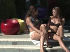 Two Lesbian babe enjoys pussy licking on the bed