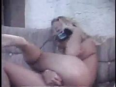 blonde assfingering at phone (frist video)