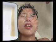 semen glazed bukkake whore part 1