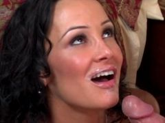 Curvy MILF fucked and facialized