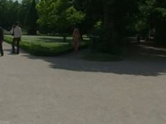 Hot public nudity with laura