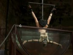 Torturing xxx Rain DeGrey By Sinking Her Upside Down in Water Tank sadism Vid