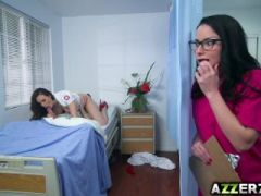 Dr. Chanel and nurse Veruca hot threesome fuck