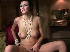 Passionate big breasted Anita Queen strips