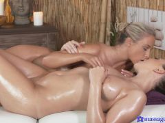 Cristin Caitlin & Morgan Rodriguez in Cristin On Morgan - MassageRooms