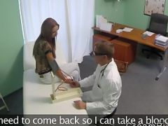 Doctor has his way with a female patient in his office at the hospital