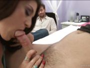 Tabatha Tucker get her cunt lick on their hubby\'s bed