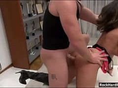 Lustful lady Malena gets her ass pumped