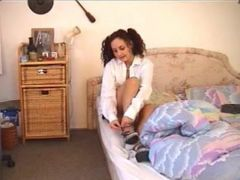 Hot teen spanked