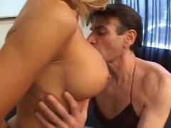 She puts him in her lingerie and they fuck