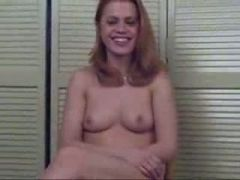 Bored hot redhead gives head