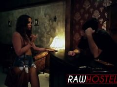 Liza Rowe gets banged by long dong in hostel