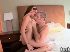 Missy Stone slams her pussy on old cock