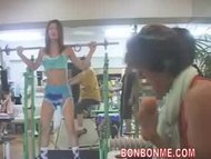 girl nude sport in GYM 01