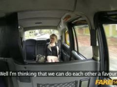 Fake taxi action with hottie Blonde and her friend