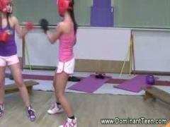 Boxing dolls practise their punches