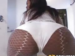 Big ass ebony takes it up the ass