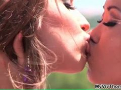 Sylvia Deluxa and Danika enjoy playing with each others