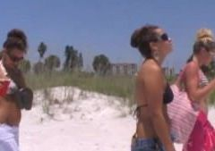 Topless Sorority Party Girls on St Pete Beach