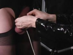 Cross Dresser Tickled With A Toothbrush