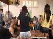 A group of students making amateuristic sextapes at a party