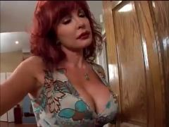 Redhead mother i\'d like to fuck Vanessa seduces youthful BBC