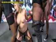 blondie chick Gets IR Gang bang