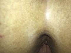 closeup doggy slo-mo pussy gripping my dick