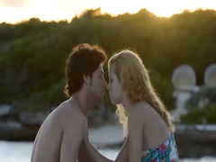 Pussy licking and coitus by the sea
