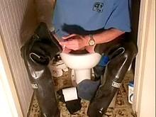 nlboots - westgate waders on toilet