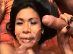 Asian beauty paid to take 3 facials