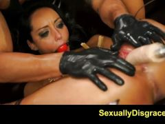 Dominated Sabrina Banks gets her pussy machine fucked