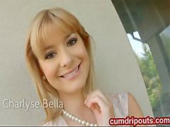Blonde Charlyse Bella naked outdoors