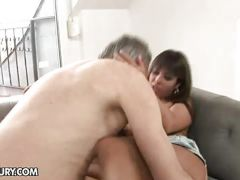Horny daddy gives Giggy a nasty fuck
