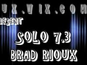 Brad Rioux in leather solo 7.3 huge uncut cock very thick