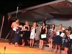 Sexy Girs In A Beauty Pageant Take Off Their Clothes