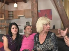 Sweetie gets got laid inside three some