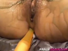 Intense vibrator xxx play along Japanese milf Rika