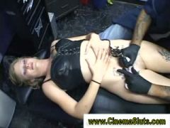 Chick gets tatted and fucked hard in insane session