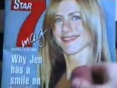 Cumshot On Photo Of Actress Jennifer Aniston