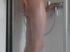 Me taking a shower, young, boy, 18 years old