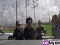 Cops Maggie And Joslyn Take Black Cock Outdoors