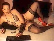 red heels and black stockings