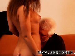 Sex image of old man and young girl Latoya makes clothes, bu