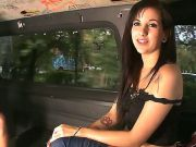 Pretty muscle fellow with huge cock seduced this pretty chick Aria Rae to have sex with him right in a bus. Watch all the stuff they are doing togethe