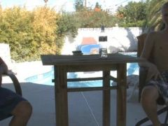 Gay youngsters poolside xxx performance