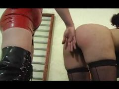 Spanked In Black Stockings