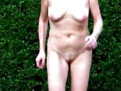 Hot Old Women Walking In The Field Totally Nude