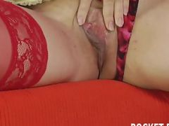 Mature brunette MILF gets licked and pounded hard