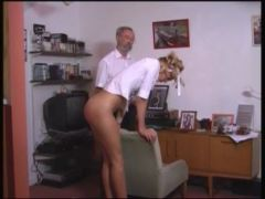 Amelia spanked in school uniform